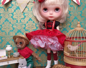 Circus 5 piece Blythe Outfit | Pullip Outfit