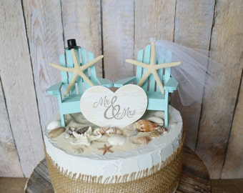 Adirondack beach wedding chairs-Adirondack chairs-wedding cake topper-beach chairs-beach wedding-destination wedding-beach-custom