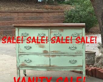 Antique Bathroom Vanities, Makeup Vanities, Ready to Paint Pieces, Kitchen Sink Cabinet! Shabby Chic Furniture Deals