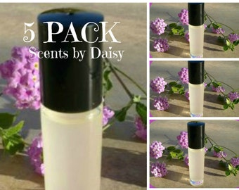 5 Pack Deal - Fragrance Perfume Cologne Roll On Oils - 10 ml Bottles - You Choose 5 Scents
