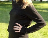 Vintage Ladies Black Wool Sweater by Pursuits Ltd Large Only 8 USD