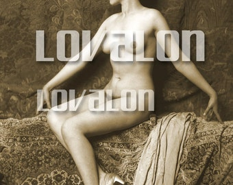 MATURE... Fly Away With Me... Instant Digital Download... 1920's Vintage Erotic Glamour Photo Image by Lovalon