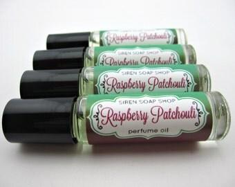 SALE Raspberry Patchouli Perfume Oil, Patchouli, Raspberry