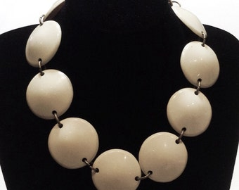 Bold Cream Necklace