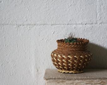 Vintage Woven Basket, Aztec