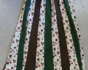 vintage CHESSA DAVIS boho PATCHWORK hippie maxi skirt S M