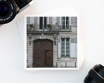 "Paris Photography, Paris Door, Neutral Decor, Paris Print, ""Door Number One"""