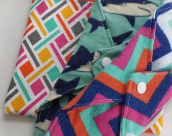 Shark Week Desination Ocean City MD Summer Collection 2016 Sampler set two cloth pads and wet bag