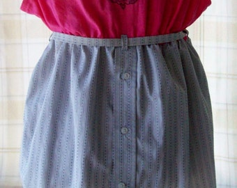 Refashioned Pink & Gray Dress/Tunic