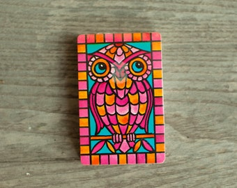 Vintage Colorful Owl Playing Cards - Trump - unopened