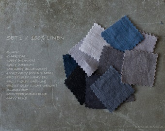Fabric Samples SET 1  /grey/blue