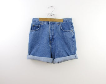 Vintage 1980s High Waisted Denim Shorts in Medium by Bayclub