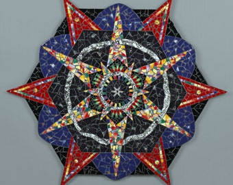 Mosaic Mandala Wall Art Kaleidoscope Star