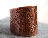 Wide Band Copper Ring Handcrafted