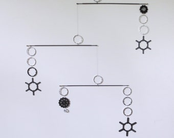 Mobile , Bicycle Gear Spacer and Spoke Kinetic Art