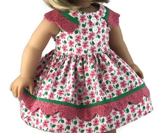 """Vintage Inspired 1950 dress for American Girl and other 18"""" dolls"""