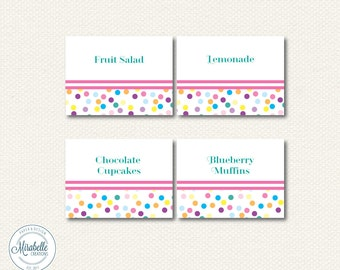 PRINTABLE PLACECARDS -- Sprinkles Party Collection -- Mirabelle Cereations