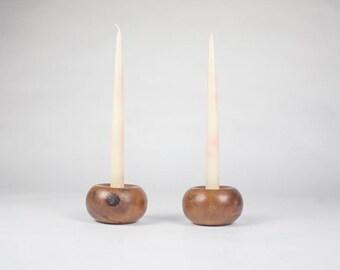 Bermuda Cedar Candle Holders / Mid Century Candle Holders / Vintage Candle Holders / Bohemian Decor / Table Centerpiece