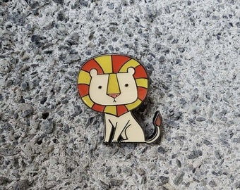 Lion Enamel Pin