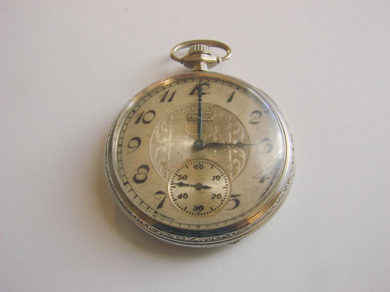 antique elgin pocket watch how to open