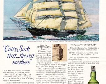 Vintage Original Magazine Advertisement 1969 Cutty Sark - Wall Art - Wall Decor - Man Room - Whisky Ad - Scotch - Scotland