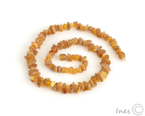 Raw Unpolished Adult Baltic Amber Necklace, Genuine Amber Necklace, Lithuanian Amber