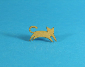 Cute Minimalist Cat Brooch, Cat Pin, Cat Brooch, Kitty Brooch, Under 10 gift, Cat jewelry, Cat Gift, Cat Lover, CATS!, PINS!, Animal pins