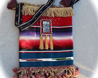 Boho Gypsy Outlaw  Serape Bag Rodeo Rebel Cowgirl Cattle Annie and Little Britches Western Rodeo Sweetheart Beauty