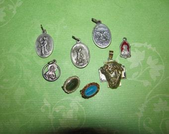 Vintage Religious Medals  for Parts Crafts Destashed #2