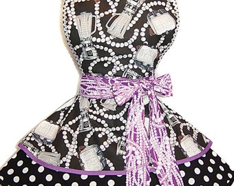 Pearls & Brunch Retro Apron -Limited Edition, Ready To Ship