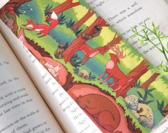 Forest animals Bookmark, Illustrated bookmark,  unique bookmarks