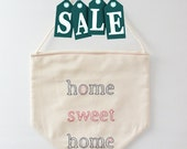 SALE - Home sweet Home pennant flag - home decoration - embroidered small flag