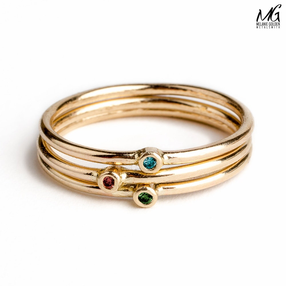 Design Your Own Ring: CREATE YOUR OWN Diamond Stacking Ring Set Real Diamond Stack