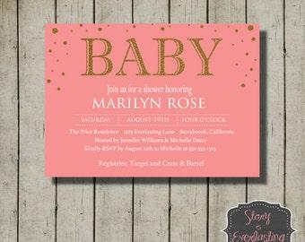 Baby Shower Invitation - Baby Invitation - Baby Shower - Invitation - DIY Invitation - Digital File