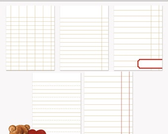 Printable Journaling Cards Ledger Set 2 Sand for Scrapbook and Project Life INSTANT DOWNLOAD