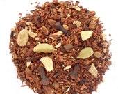 HONEY CHAI Herbal Tea,Organic Loose Leaf Honeybush Blend, Cardamom + Ginger + Cloves, Unique Tea Blend, Caffeine Free, 1oz, Eco Box