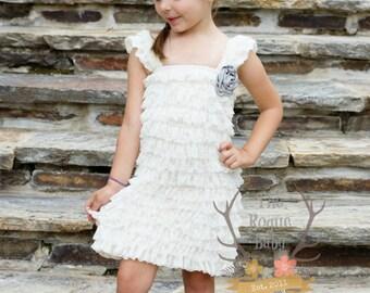 Ivory & Gray Headband - Baby Headband - Flower Girl Headband - Rhinestone Pearls - Grey Cream- Newborn Baby Girls Wedding