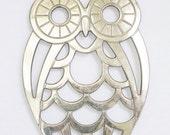 Vintage Silver Plated Owl Trivet by Leonard