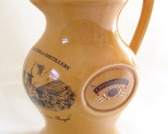 Vintage Buchan Scotland Pottery Jug Pitcher Chivas Regal