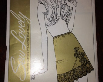 Sew Lovely Sewing Pattern 700 Ladies Lingerie Half Slip Undergarments Size S, M, L 70s Uncut
