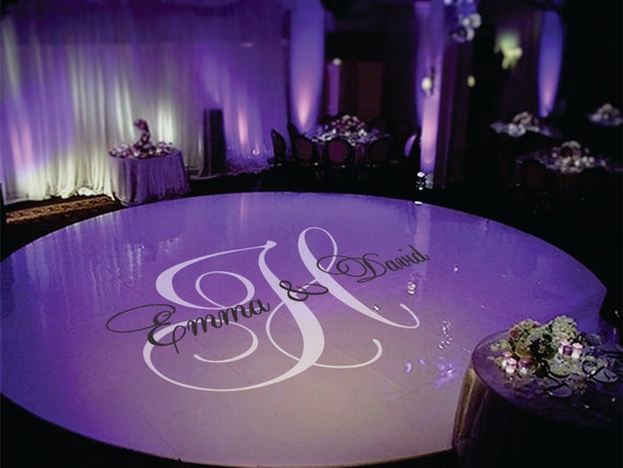 Personalized Wedding Floor Monogram by SignJunkies