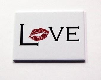Love Mirror, Lipstick Mirror, Purse mirror, Large Pocket mirror, glass mirror, mirror, hand held mirror, rectangle mirror, Love (5400)