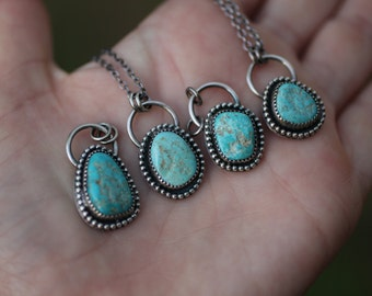 Cripple Creek Turquoise Pendant, Boho Pendant, Layering Necklace