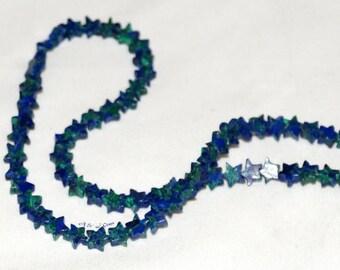 """Azurite Malachite 6mm Star Gemstone Beads AAA - 16"""" Strand"""