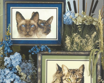 """Clearance- """"Naturally Cats I"""" Counted Cross Stitch by Cross My Heart"""