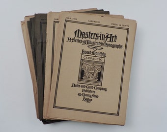 Antique Art Books - Masters In Art. A Series Of Illustrated Monographs - 1900-1909 - 10 Volume Set - Illustrated - Art History
