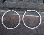 Sterling Silver Hoop Earrings Hoops Extra Large