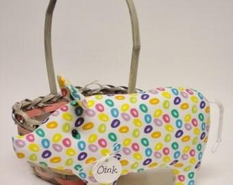 Jelly Bean Pig - Made To Order, Easter Decor, Primitive Pigs, Country Farmhouse Decor, Spring Decor
