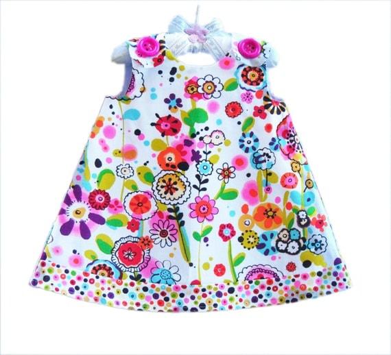 Larkpur Meadow - Girl Dress - Handmade Toddler Dress - Sun Dress - Pinafore - Baby Clothing - Baby Wearing - Baby Girls - 3M to 4T