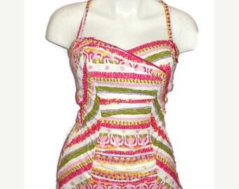 SALE DEADSTOCK Vintage 1950s Bathing Suit Unworn Pinup NWT Swimsuit Rockabilly Heinzelmann Orchidee German Nos M